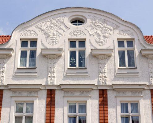 Malerei Reiter - Historische-Gebäude